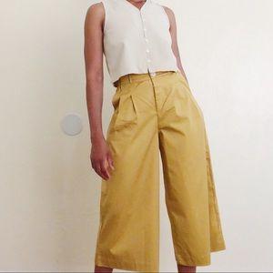 Kowtow Yellow/Gold Wide Leg Culottes